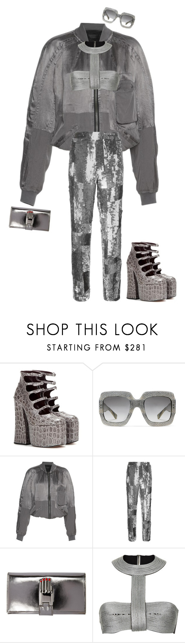 """""""Silver Lining 🌪🏳"""" by thecasegirl ❤ liked on Polyvore featuring Marc Jacobs, Gucci, Maiyet, Chloé and Opening Ceremony"""