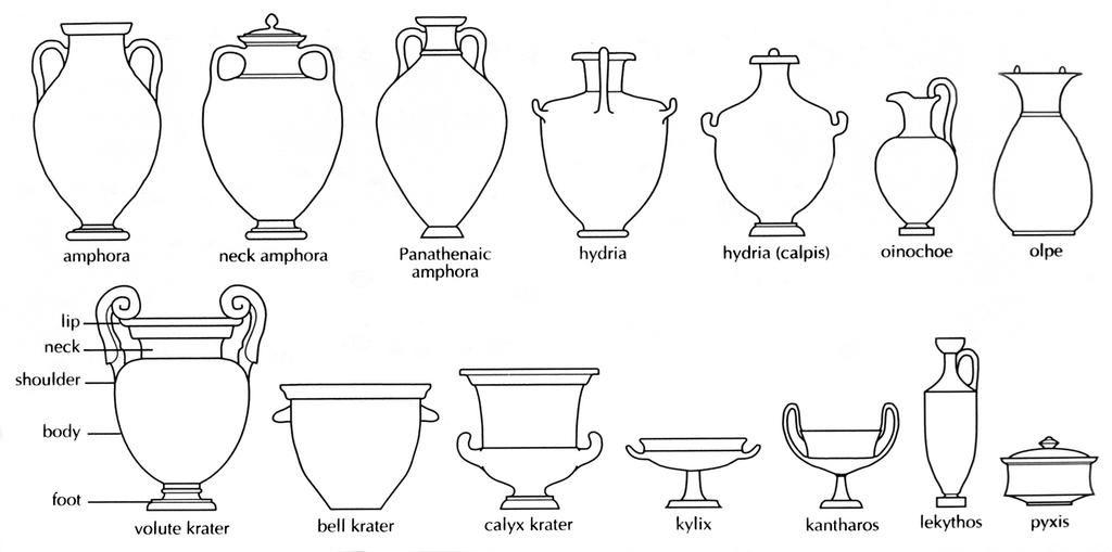 Types Of Vase Shapes Deal Pottery Vase Hexagon Shape Ebay Bits
