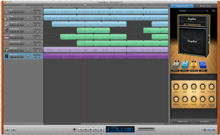 We used Garage Band to cut various soundtracks and sound