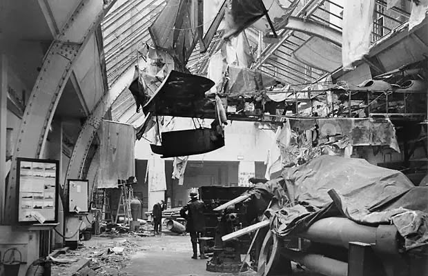The Imperial War Museum Naval Gallery after being bombed, 31st January 1941.