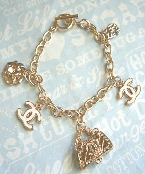 Chanel Inspired Charm Bracelet On Luulla By Pearlescent Perhiasan
