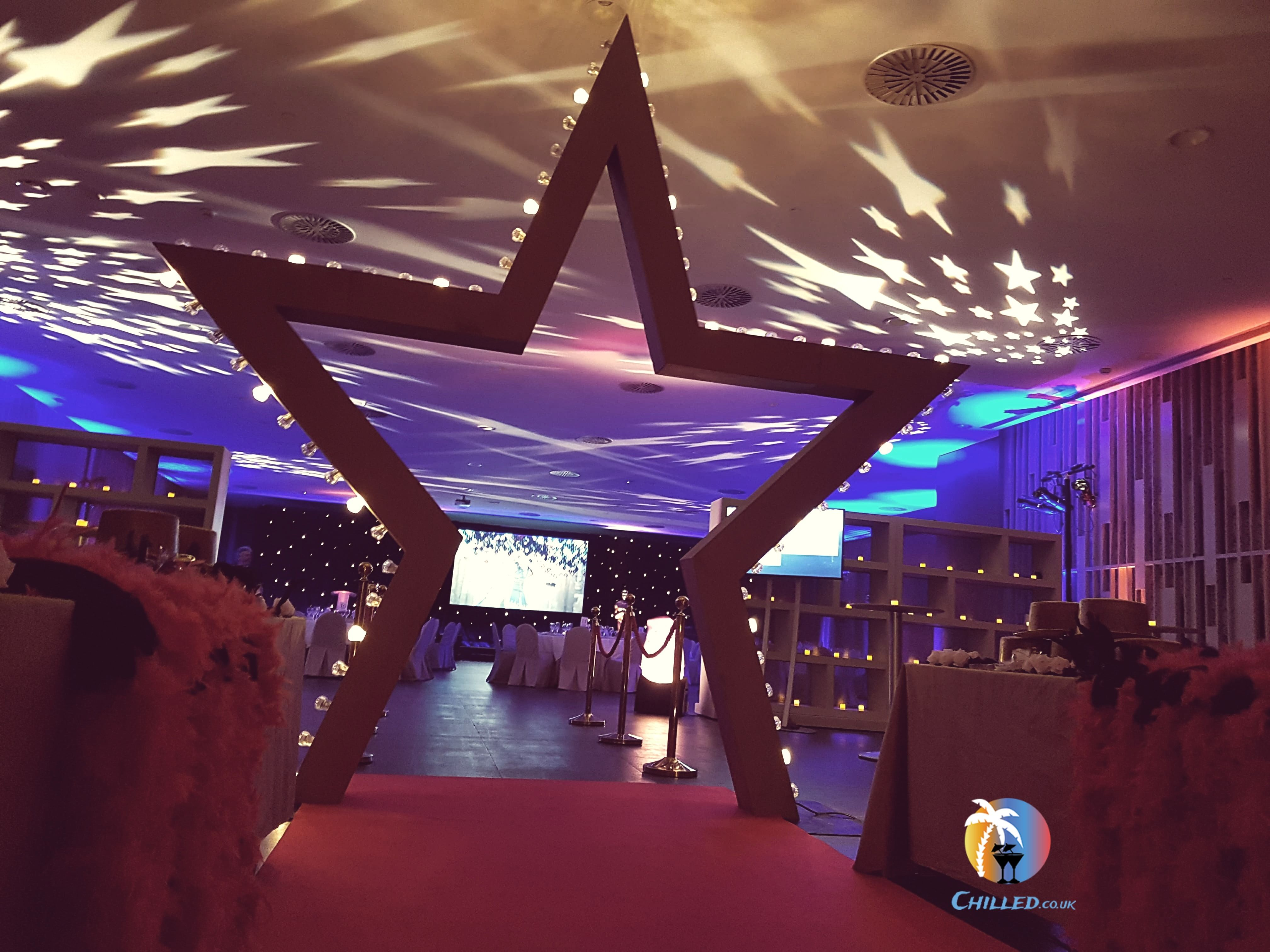 Giant Star Entranceway Star Arch Prop Hire Awards