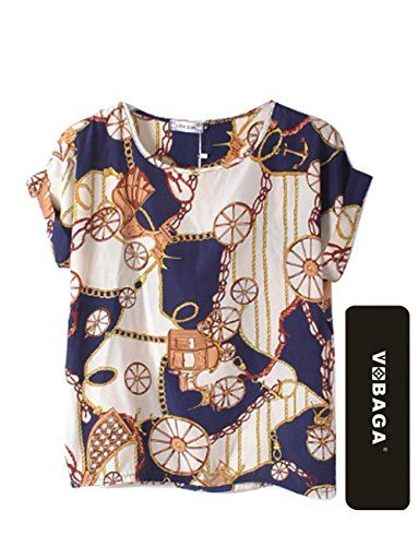 VOBAGA® Women's Big Wheels Printed Chiffon T shirt Batwing Loose Blouse Casual Tee Tops S Vobaga http://www.amazon.com/dp/B0145ZUW12/ref=cm_sw_r_pi_dp_cor4vb1J7RE1M