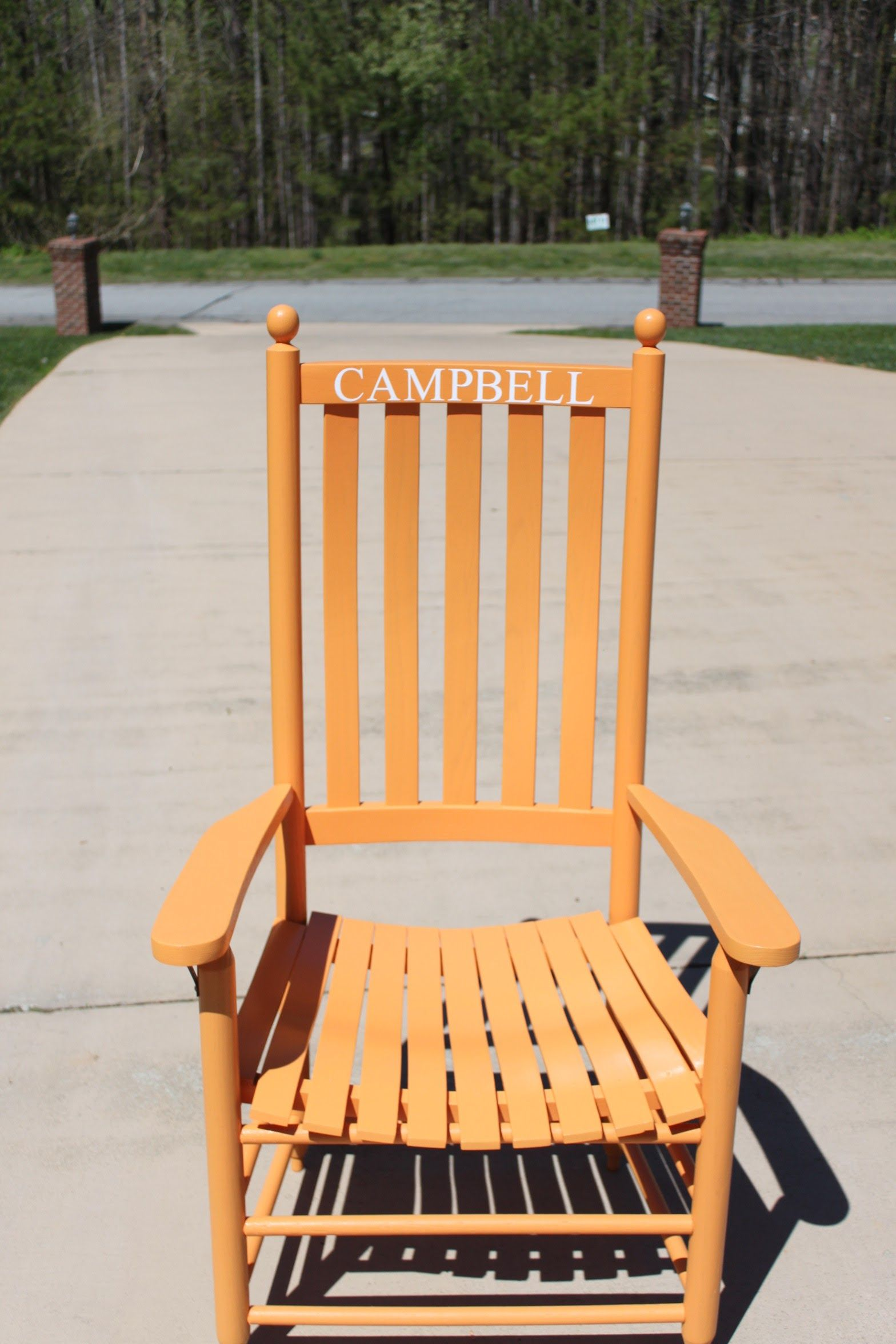 Troutman Rocking Chairs Meco Folding Campbell University Chair Custom Painted By The Cubbard Unfinished Rocker Made