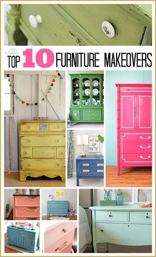 Top 10 Furniture Makeovers at the36thavenue.com I love the color choices!