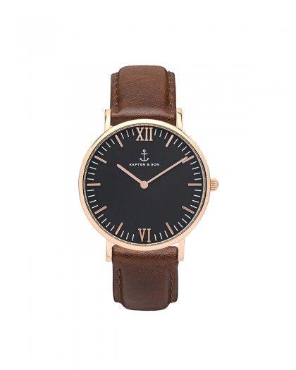 Kapten & Son Campina Brown Leather Damen Uhr braun