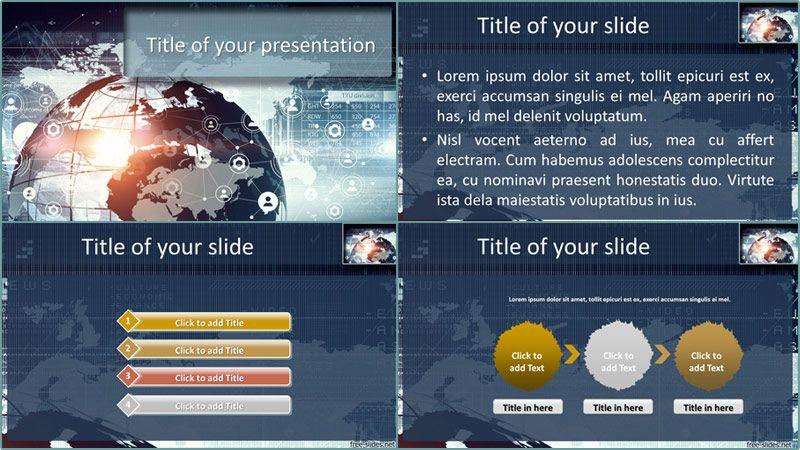 Free 3d Business Technology Network Digital Powerpoint
