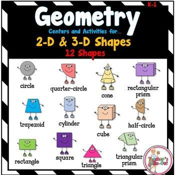 Geometry Centers and Activities K-1 | Activities, Math and Classroom ...
