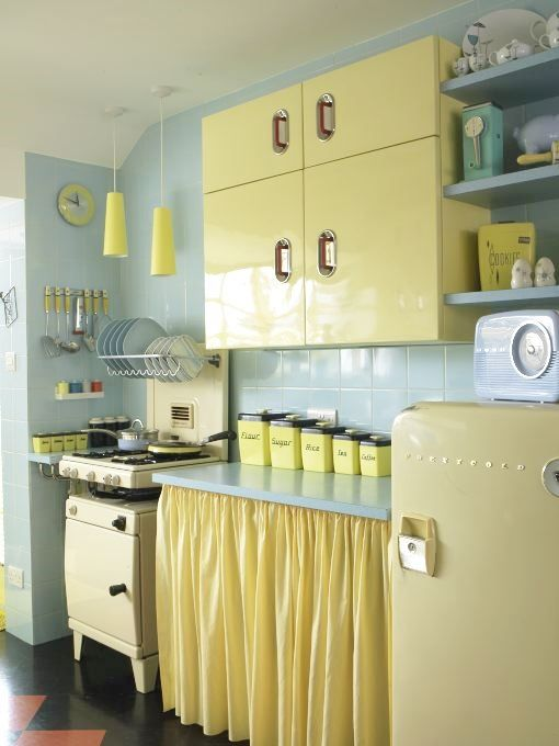 original 1950s vintage English Rose kitchen as photographed by Simon Whitmore for FW Media Style Your Modern Vintage Home by Kate Beavis