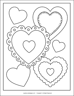 Free valentine coloring pages valentine 39 s day coloring for Free valentine coloring pages for kids