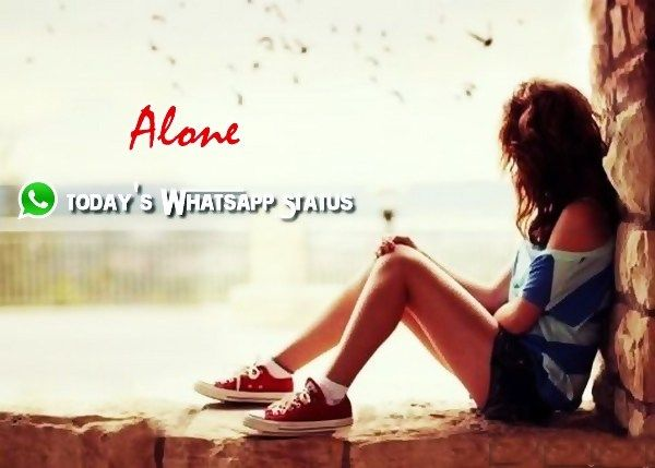 100 feeling alone status for whatsapp in hindi alone quotes