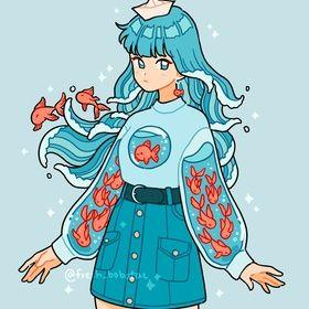 fish sleeves, an art print by fresh_bobatae