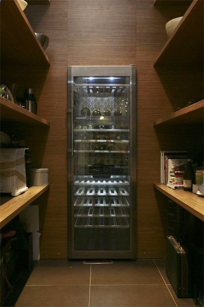 Pantry With Built In Wine Fridge Incredible Use Of Space Where