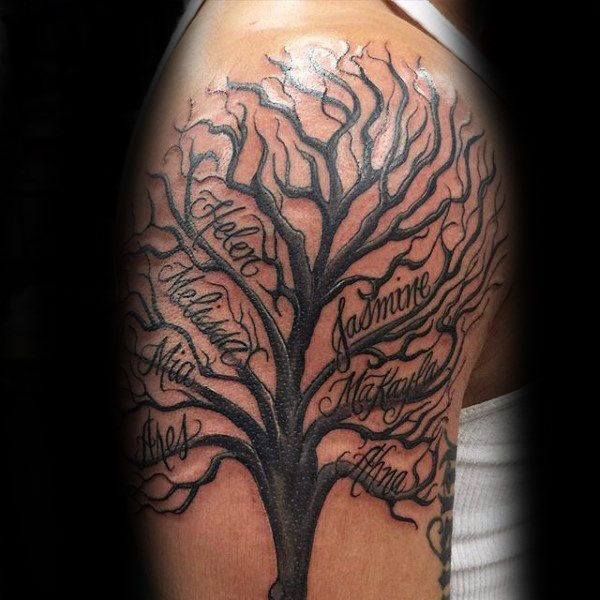 60 Family Tree Tattoo Designs For Men
