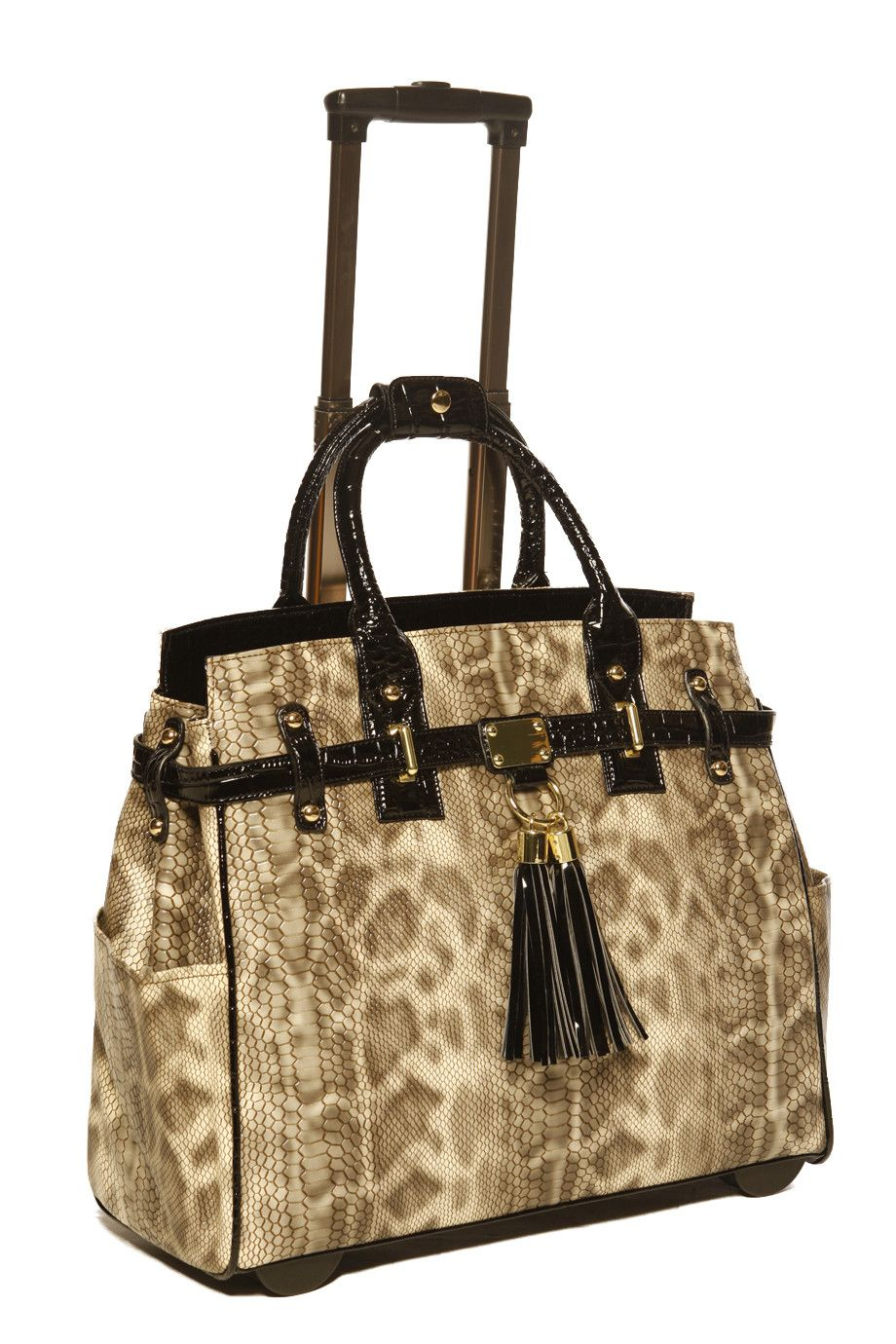 The Python Rolling Laptop Carryall Or Weekender Bag By Jkm Company And