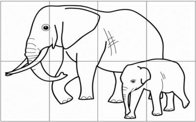 Coloriage Animaux Afrique Maternelle.Cahiers De Vacances Koala Maternelle Puzzles Elephant