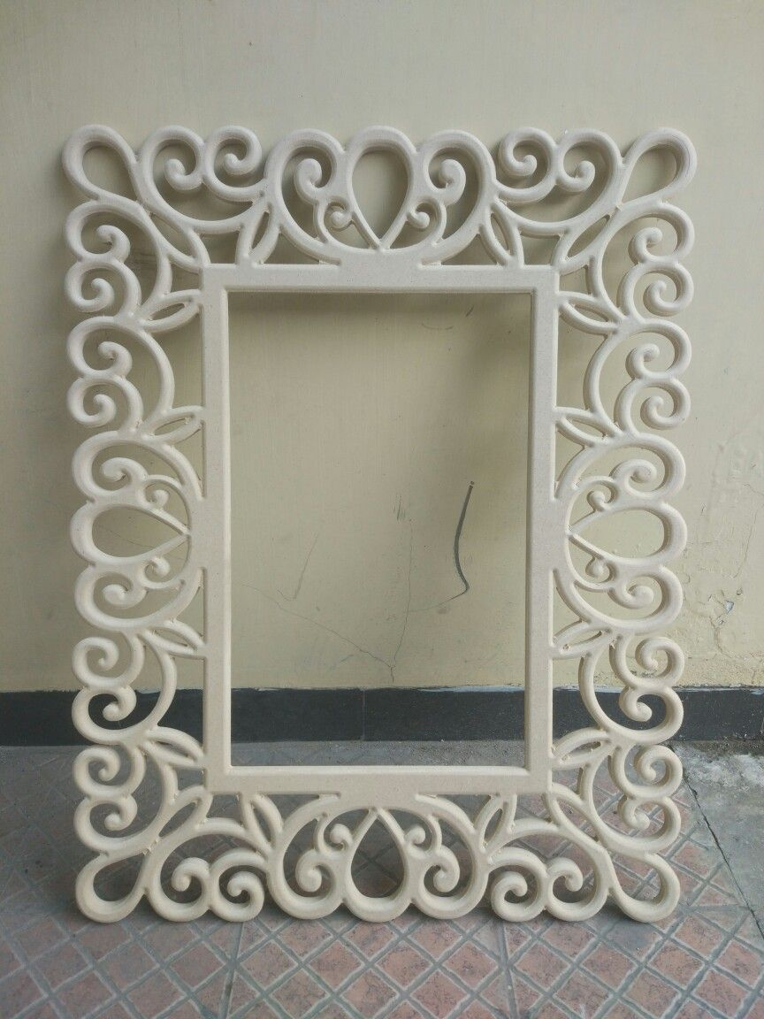 Cnc Frame For Photo Or Mirror Cncart Cncframe Frame Crafts Mirror Designs Wooden Picture Frames