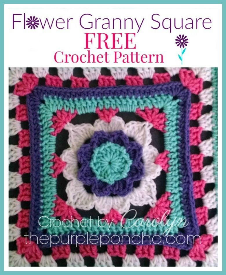 The Flower Granny Square is full of texture and raised stitches to ...