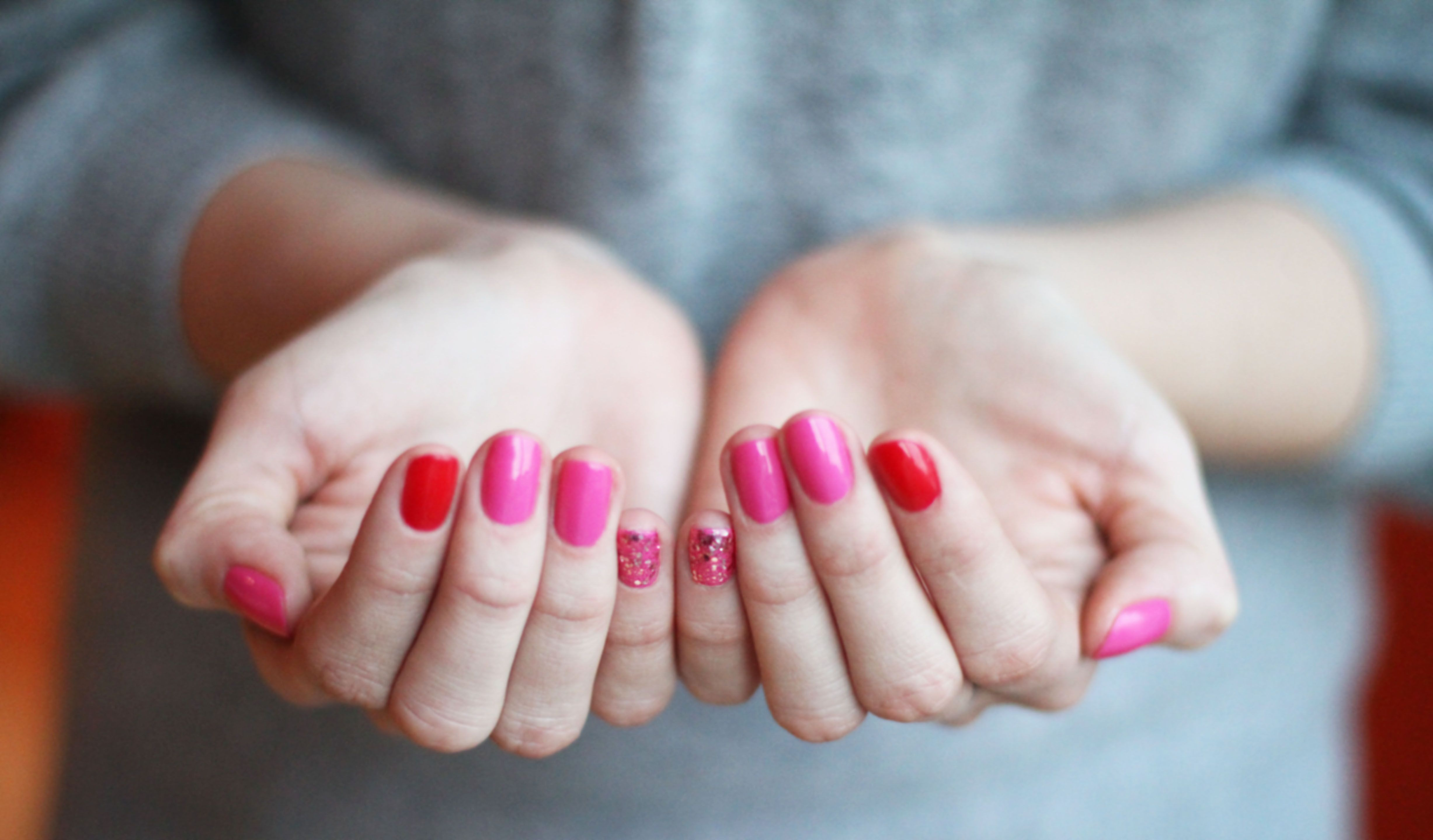 Essie 'really red' & pink 'a cut above' | beauty | Pink nail