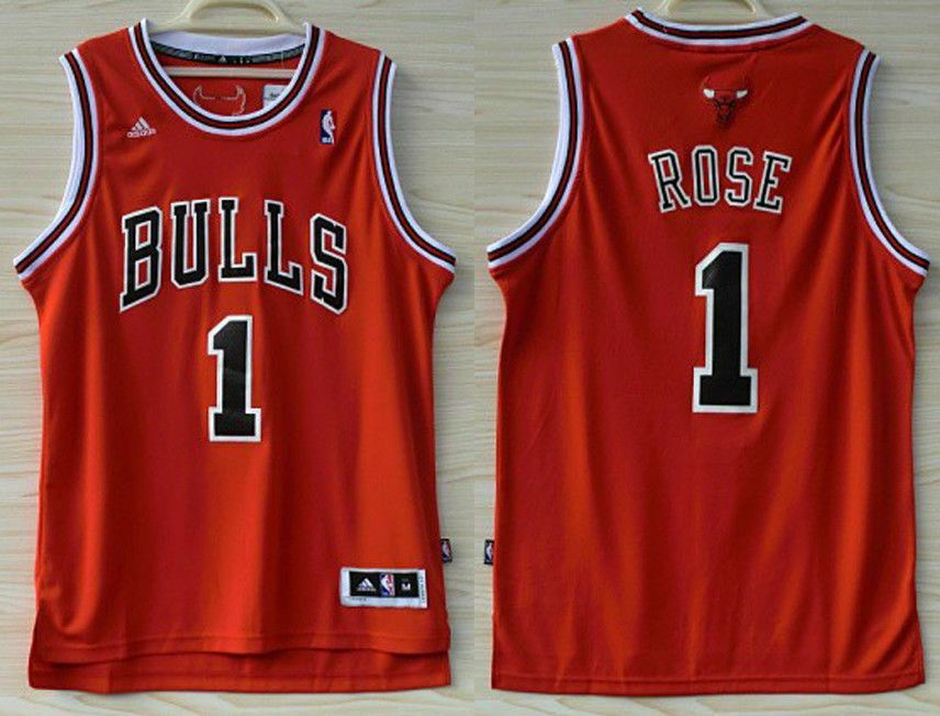 designer fashion 13db3 671a0 Men's Chicago Bulls Basketball Jersey NO.1 Shirt Derrick ...