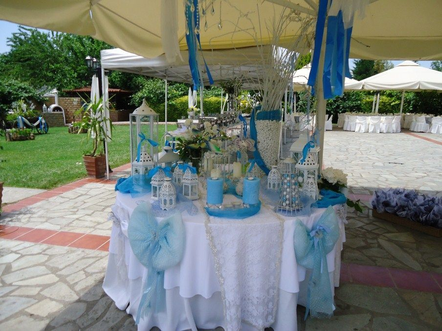 Christening decorations ideas for boys christening place for Baby dedication decoration