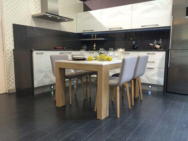 Mesa comedor extensible 3 6 y sillas de dise o nordico - Sillas de comedor modernas ...