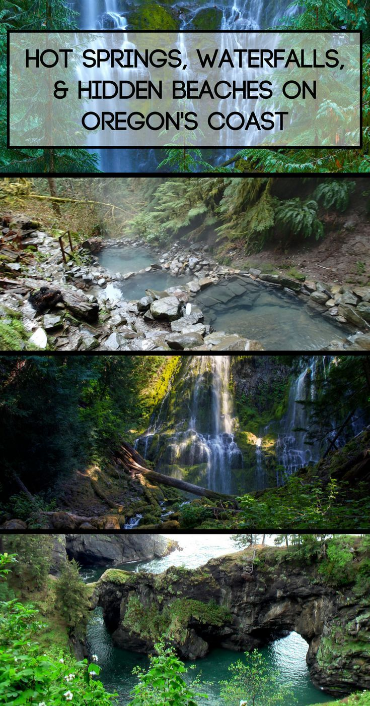 Hot springs, waterfalls, & hidden beaches on Oregon's coast #oregoncoast