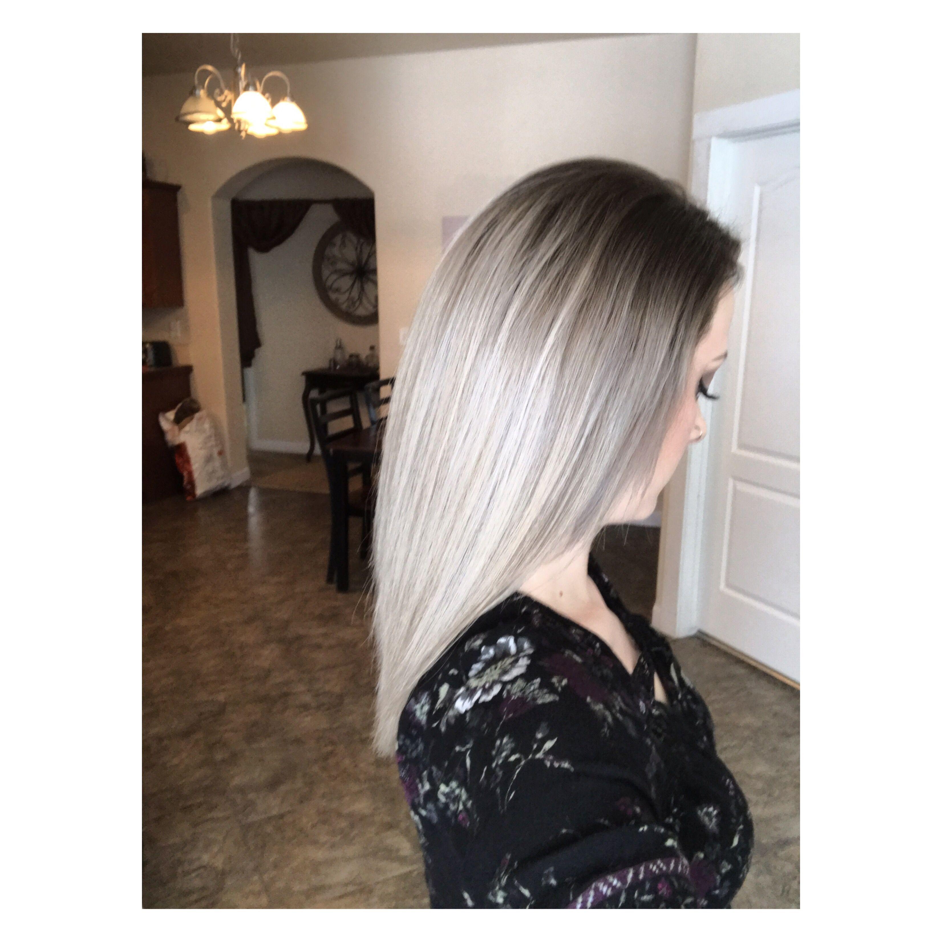 Silver blonde ombré