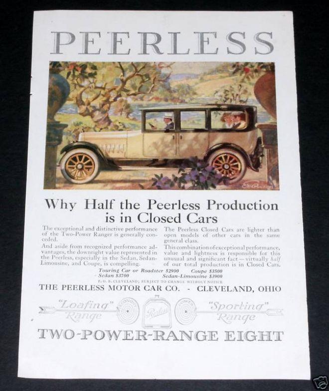 Peerless Roadster, Motor Car (1919)   Peerless [Two company\'s one ...