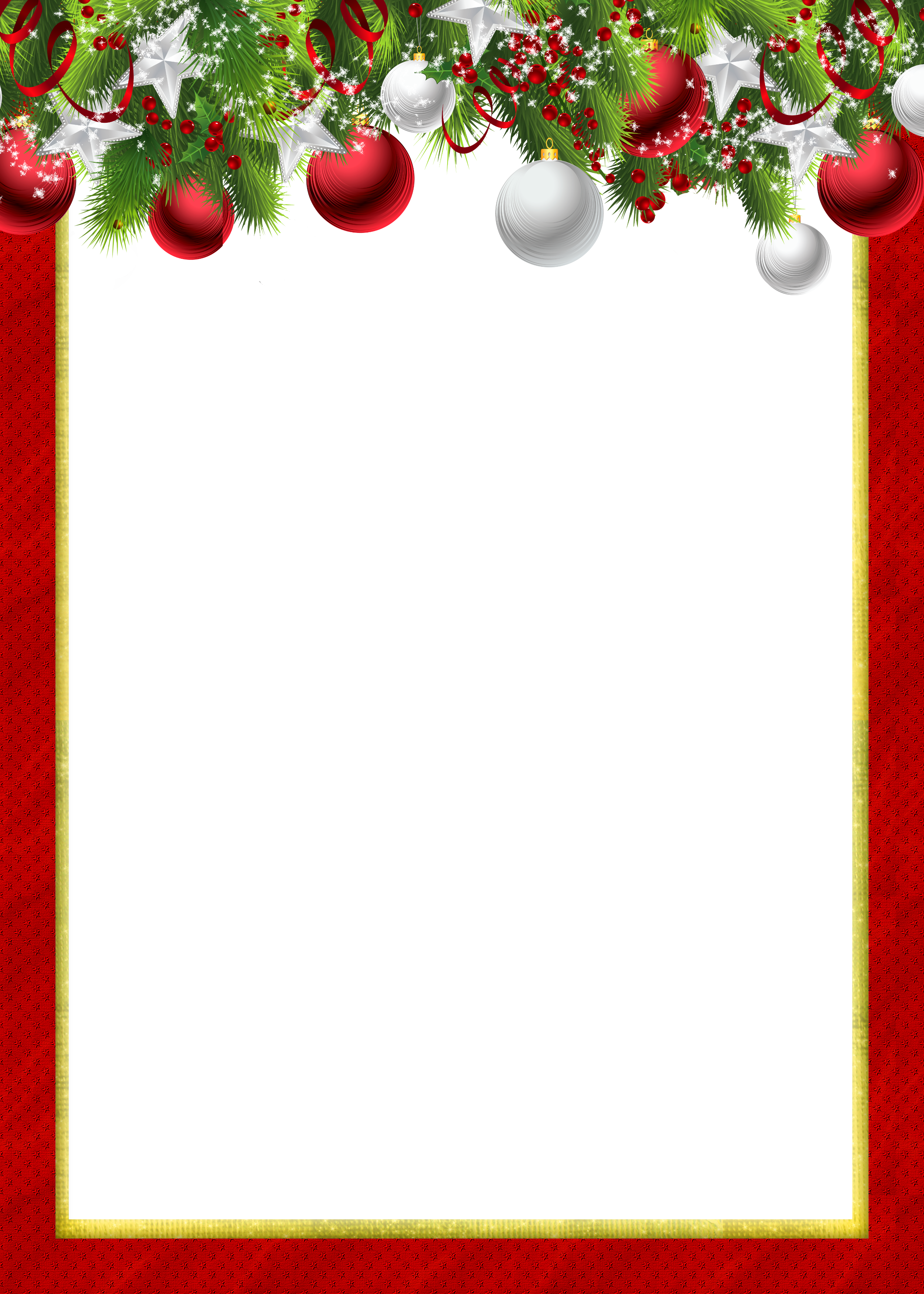 Red Transparent Png Christmas Photo Frame With Christmas Balls Free Christmas Borders Christmas Clipart Free Christmas Border