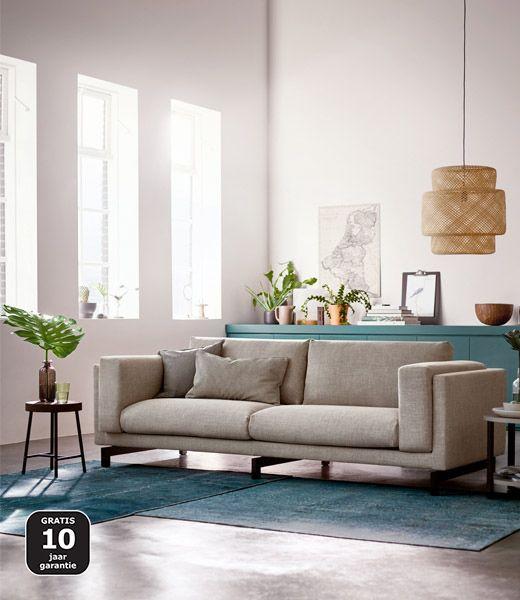 NOCKEBY 3 Zitsbank Teno Lichtgrijs Hout Living Room DecorLiving IdeasLiving SpacesMedia RoomsIkea Nockeby SofaApartment