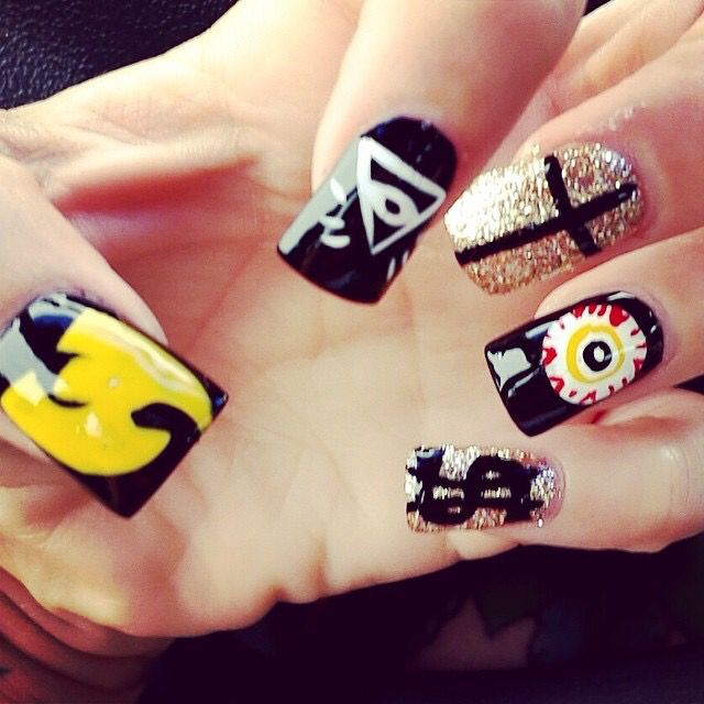 Wu Tang nails | Pannie_Phannie | Pinterest | Wu tang