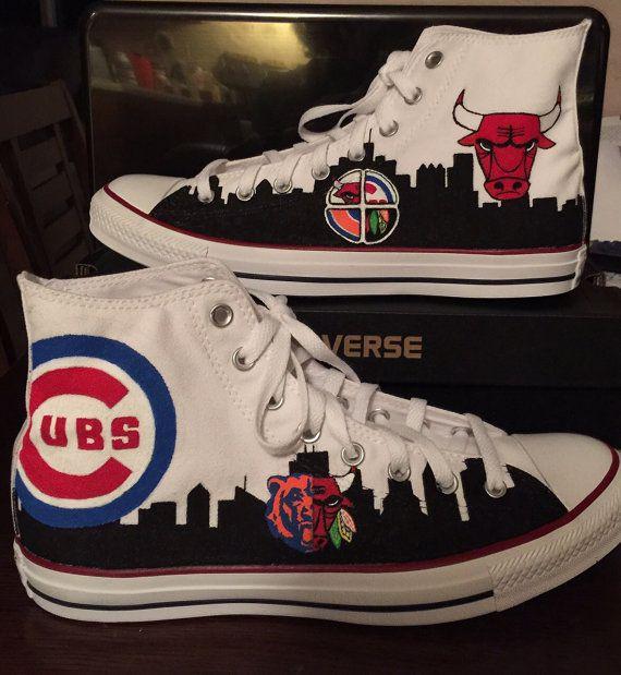 Chicago Sports Mashup Converse hi-tops