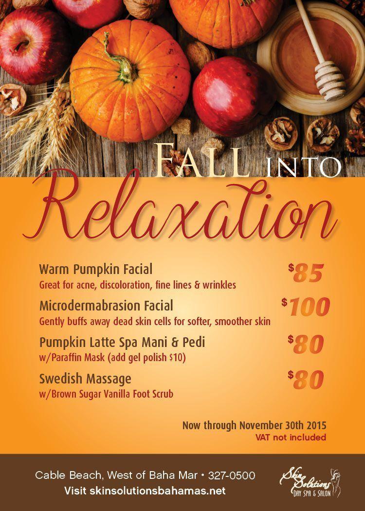 Spa Specials Skin Solutions Spa specials, Spa