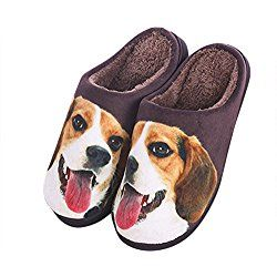 Cute Dog Fuzzy Matching Couples Slippers For Men Dog Slippers