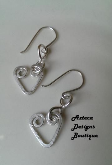 Argentium Sterling Silver Forever Hearts Earrings