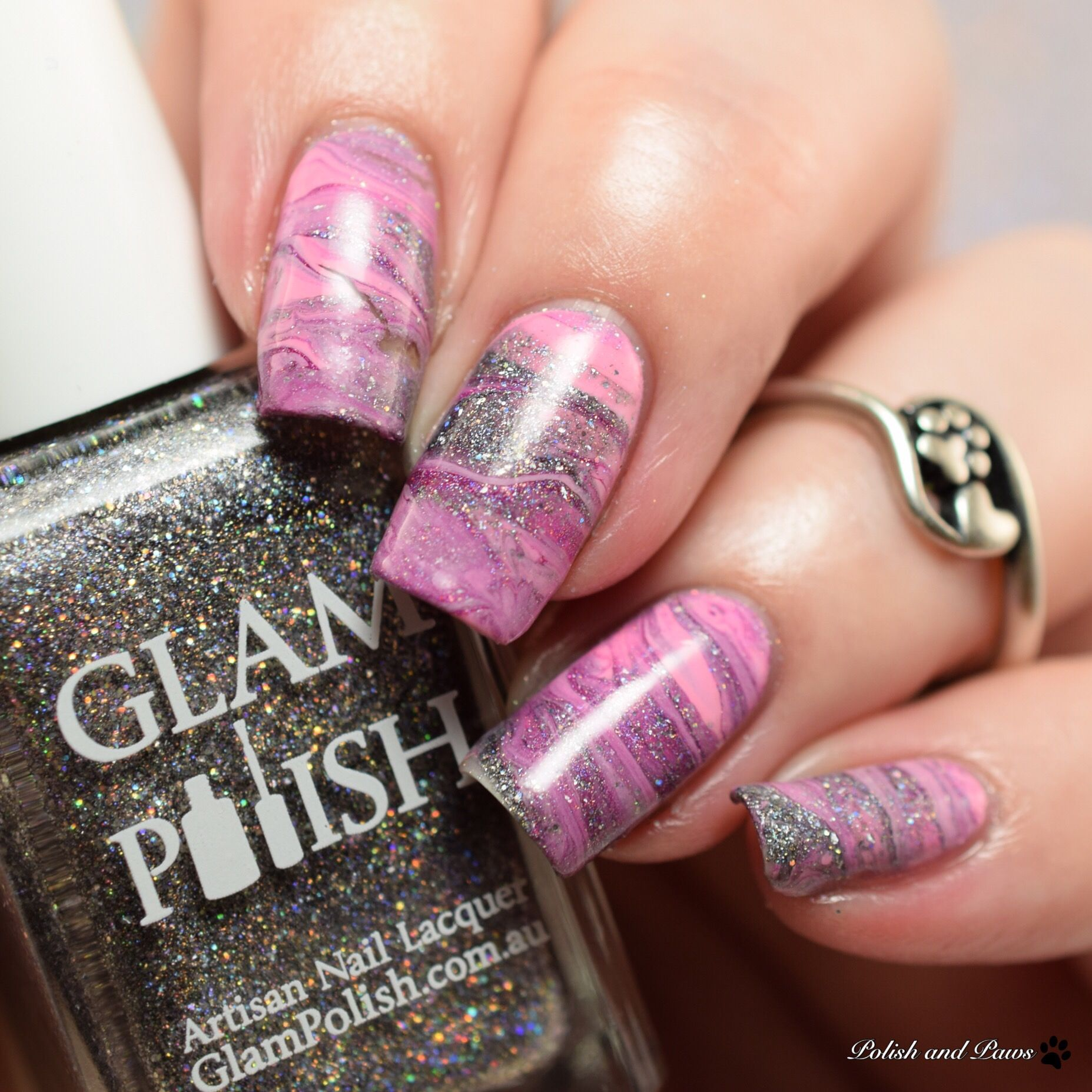 Drag Marble Nail Art Design Nails Pinterest Marble Nail Art