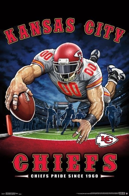 Kansas City Chiefs End Zone Mascot Poster 22x34 Nfl Football 15984 Ebay Football Poster Kansas City Chiefs Football Nfl Kansas City Chiefs