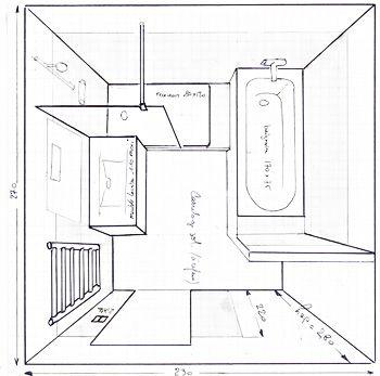 Salle de bain de 6m2 baignoire douche wc recherche for Implantation salle de bain 6m2
