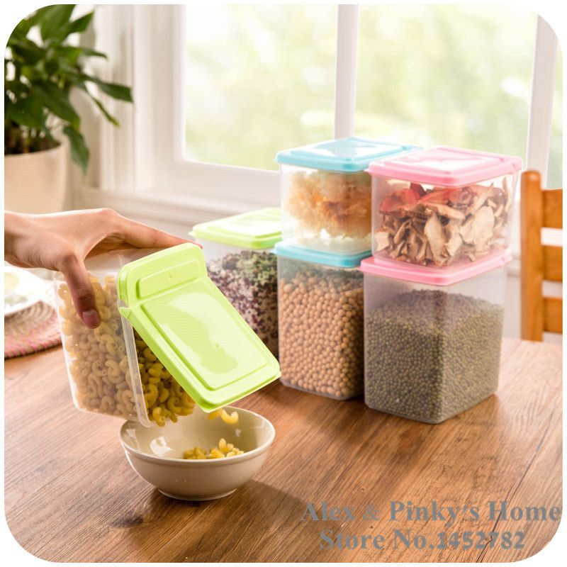 Kitchen Flip Food Storage Box Organizer Storage Tank Airtight Containers Sealed Home Organizer Of Whole Grains #Affiliate & Kitchen Flip Food Storage Box Organizer Storage Tank Airtight ...
