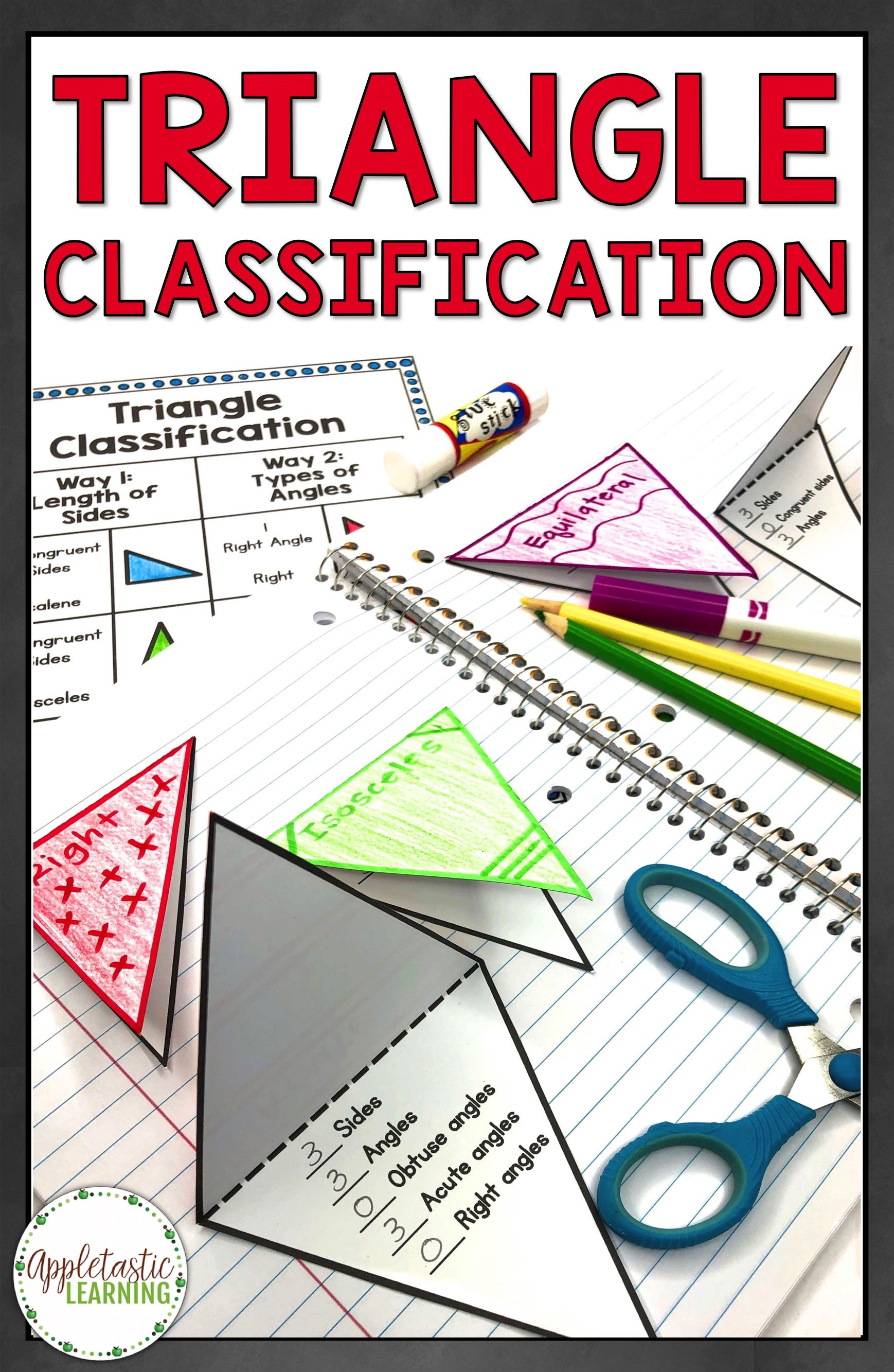 2D Shapes Foldables and Triangle Foldables are fun for elementary students  in 3rd grade [ 2666 x 1738 Pixel ]