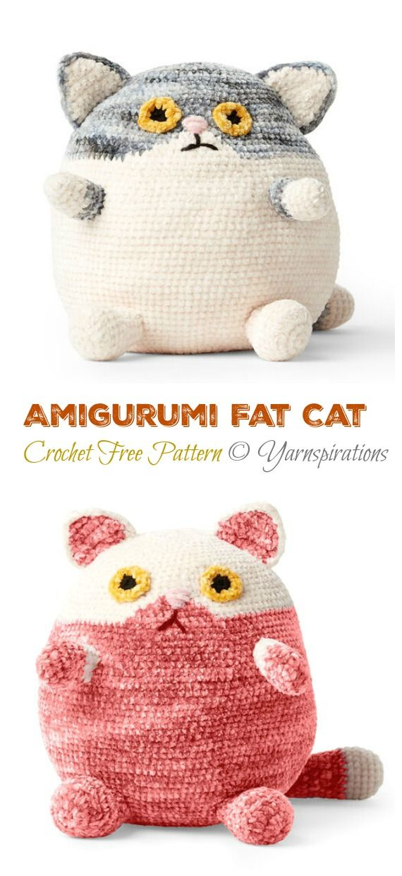 Amigurumi Fat Cat Crochet Free Pattern - Crochet & Knitting