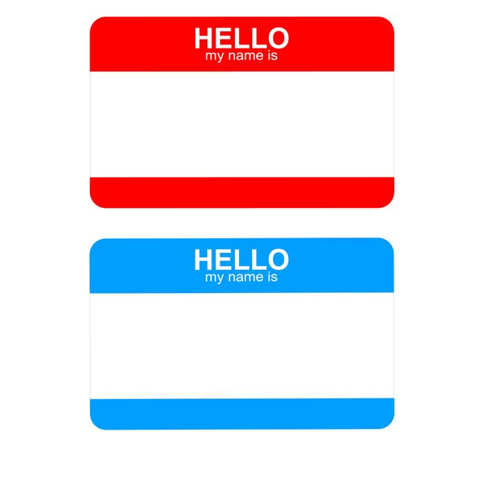 Free Hello My Name Is Sticker Badge Template Title= | Art/Smash