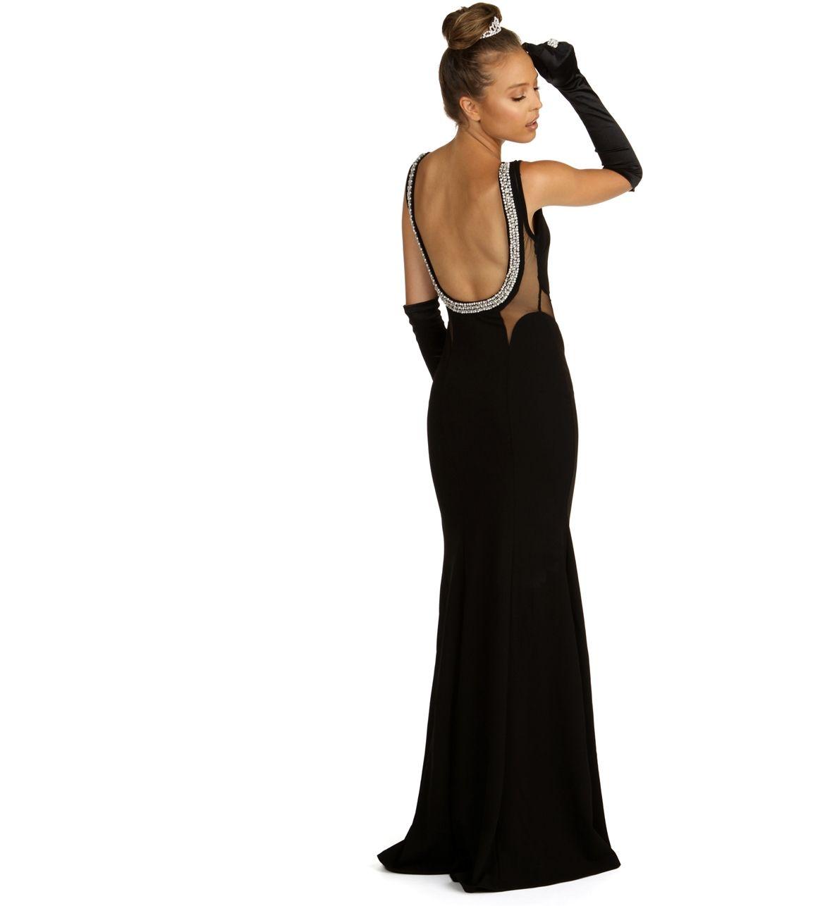 Tamara Black Beaded Back Prom Dress Prom Dresses Black Prom Dress Necklines For Dresses [ 1286 x 1180 Pixel ]