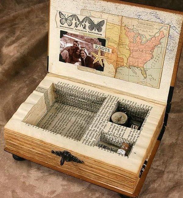 Photo of Einfache und schöne DIY-Projekte mit alten Büchern – Diyselbermachen – Decorative Boxes