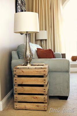 construire une table de chevet rustique avec des palettes en bois recycles - Table De Nuit Rustique