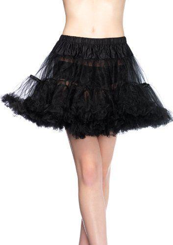 Leg Avenue Petticoat, Black, One Size Leg Avenue   wwwamazon - black skirt halloween costume ideas