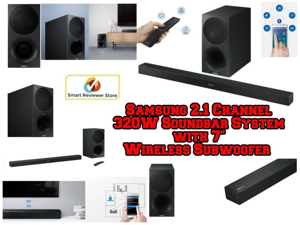 Samsung 2 1 Channel 320w Soundbar System With 7 Wireless Subwoofer Black Friday Samsung Sound Bar Subwoofer Samsung