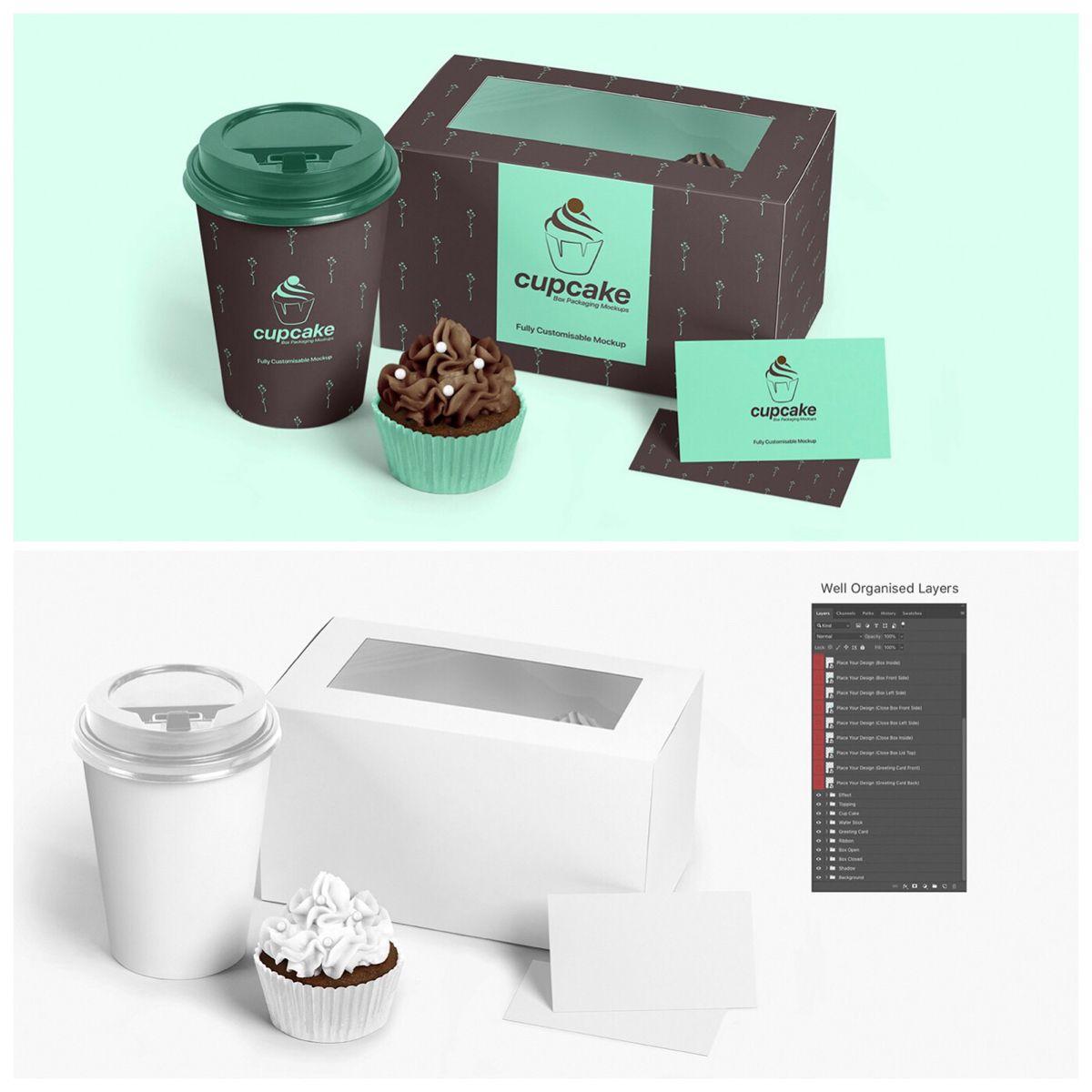 Download Cupcake Box Mockup Cupcake Packaging Mockup Pixpiine In 2020 Cupcake Packaging Packaging Mockup Box Packaging
