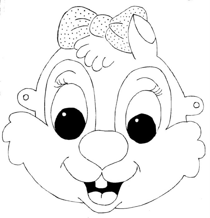 kids-face-masks-template-for-coloring-squirrel-girl - Masks and - paper face mask template
